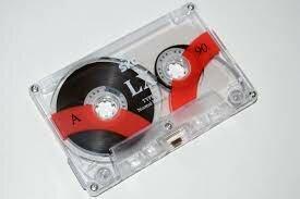educación con la grabación de cinta magnética