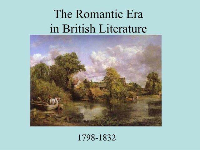 Romanticism english literature