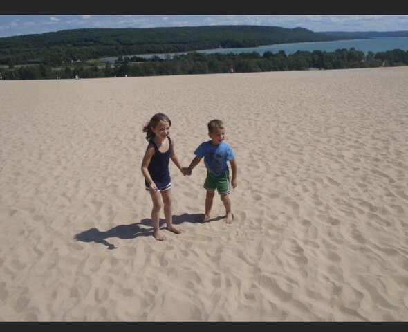 Went to Sand Dunes in Northern Michigan