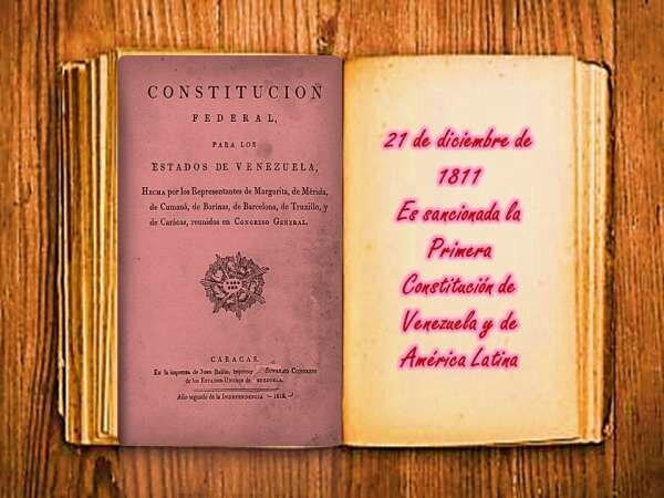Primera constitución de América