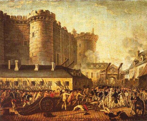 Revolució Francesa. El poble ocupa la Bastilla