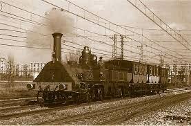 Primera locomotora de vapor a la Península Iberica.