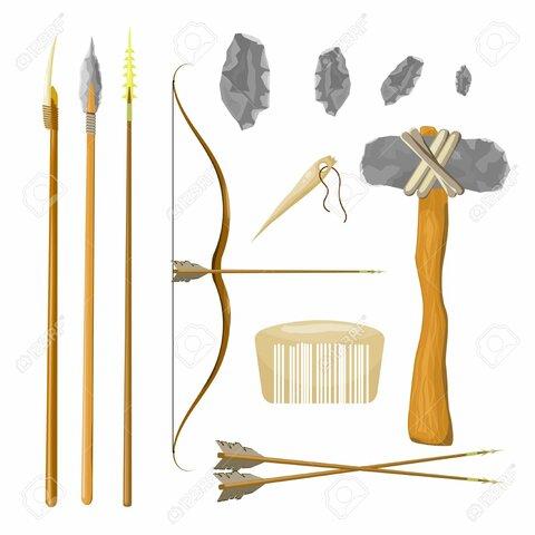 lanza ,arcos ,flechas y arpones