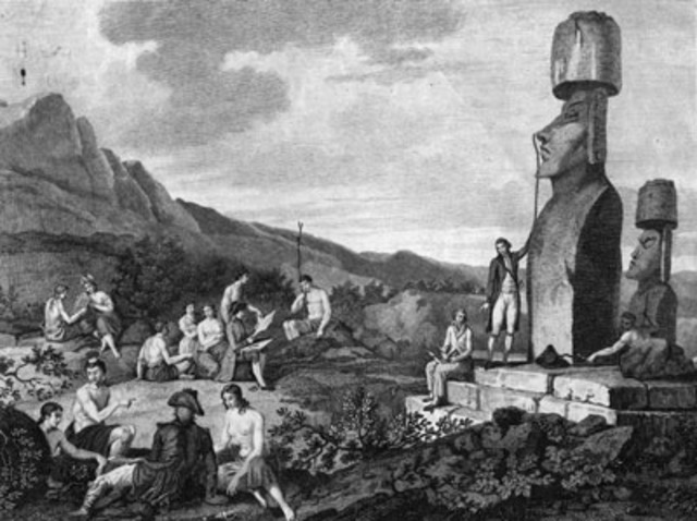 Duch arive at Easter Island