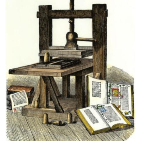 Gutenberg inventa la imprenta