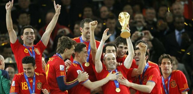 Spain wins the 2010 World Cup