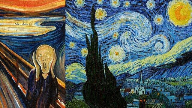 Expresionismo e impresionismo.