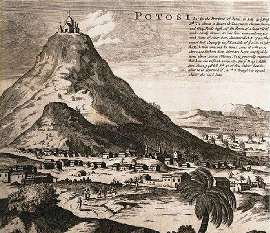 En 1545 se halla plata en el Potosí