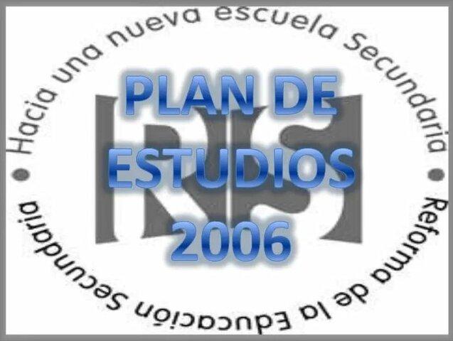 PLAN Y PROGRAMA DE ESTUDIO.
