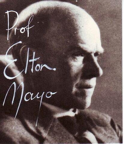 Teoría de las relaciones humanas- Elton Mayo