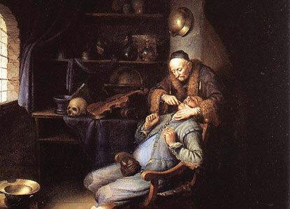 Barberos franceses comenzaron a realizar el oficio de odontología de manera empírica.