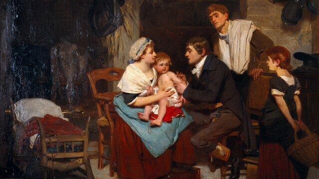 Edward Jenner inoculó a un niño de 8 años contra la viruela utilizando material de viruela estableciendo el principio de vacunación.