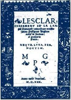 L'ésclarcissement de la langue francoyse