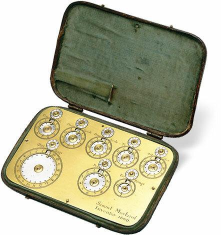 Samuel Morlandinventa la primera máquina de multiplicar