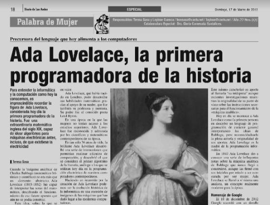 Ady Lovelace la primera programadora