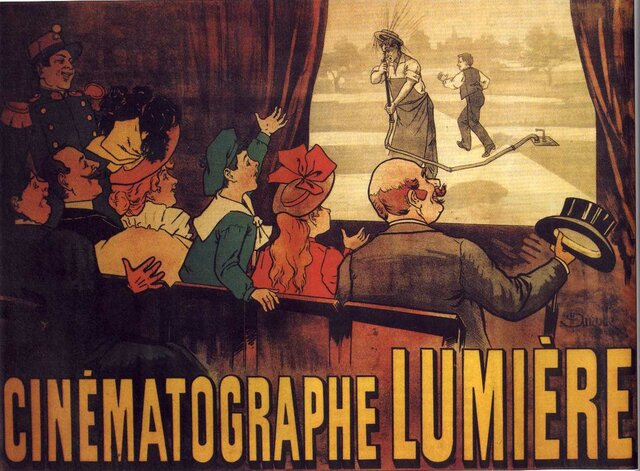 Presentación del cinematógrafo Lumière.