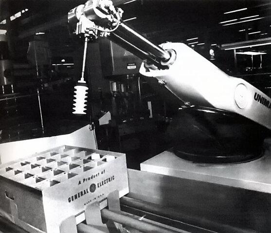 Uso de robots industriales