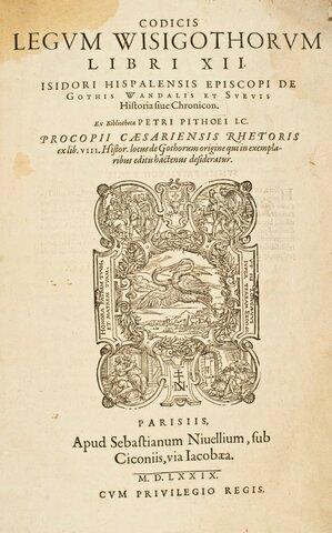 "Publicació de ""Lex Romana Visigothorum"""