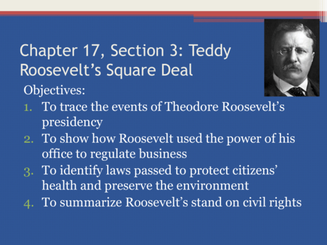 Teddy Roosevelt's-Square Deal