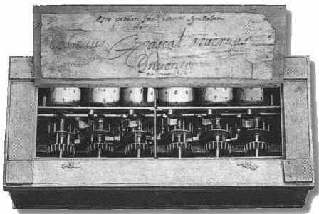 Blaise Pascal construye la primera calculadora mecánica que hacía sumas y restas.