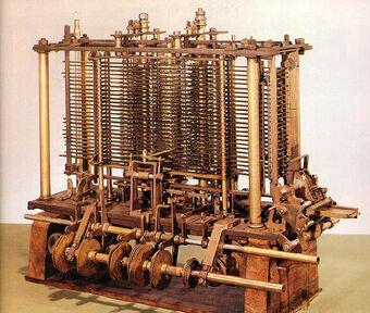 Charles Babbage diseña aunque no construye una máquina procesadora capaz de ejecutar programas de computación.
