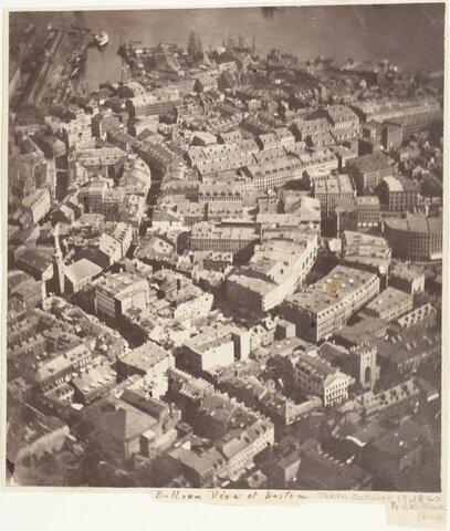 La primera fotografía aérea
