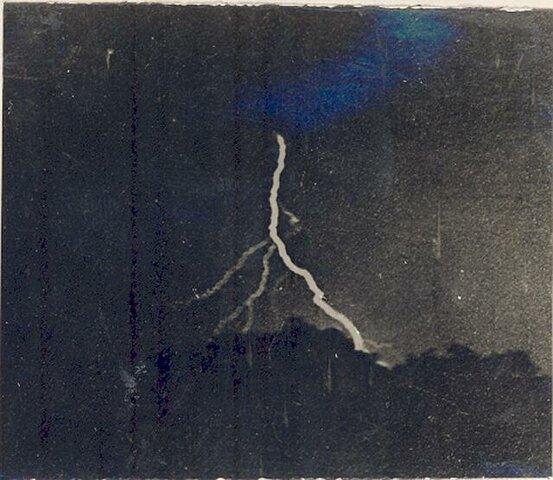 La primera fotografía de un relámpago