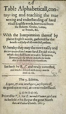 Создание ранних словарей английского языка