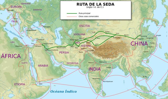 La ruta de Seda (A partir del Siglo I A.C)