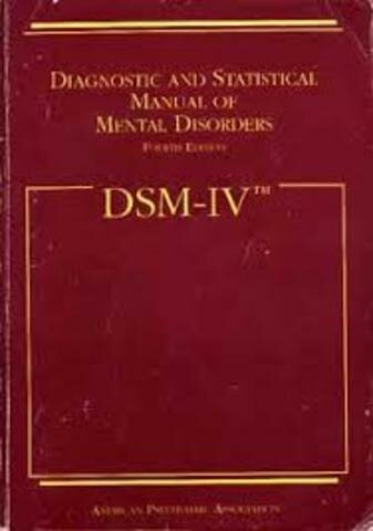 Manual Estadístico de Trastornos Mentales.