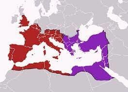 División del Imperio por parte de Teodosio .