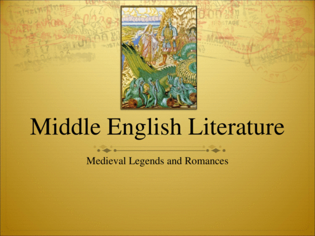 Middle Ages english lierature