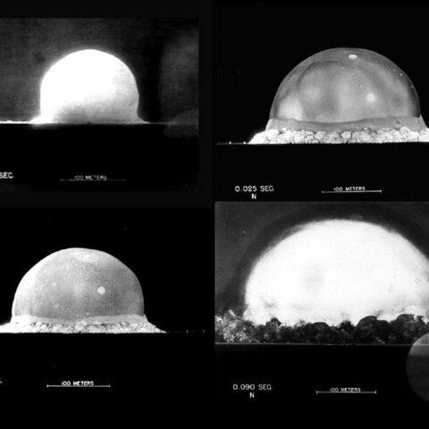 Las primeras fotografías de una explosión atómica