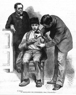 Louis Pasteur lleva a cabo la primera vacunación exitosa contra la rabia en un niño pequeño.