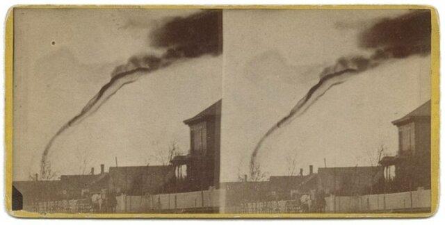 La primera foto de un tornado