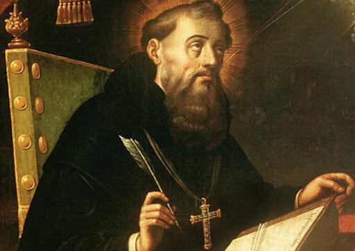 San Agustín se ordenó como sacerdote.