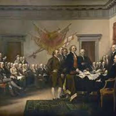 Els Estats Units d'Amèrica s'independitzen d'Anglaterra. timeline