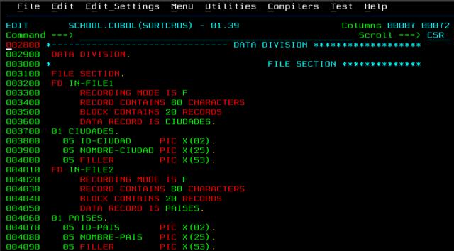 Desarrollo de COBOL