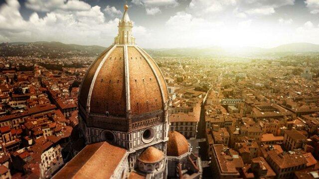 Brunelleschi inicia  la cúpula de la catedral de Florència