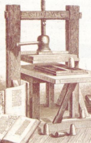 imprenta moderna de Gutenberg