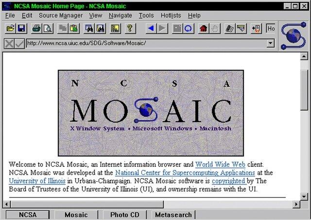 Creación del primer navegador MOSAIC