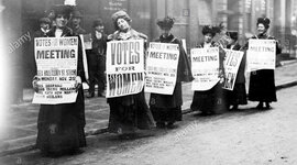 THE SUFFAGETTES: A HISTORY OF THE STRUGGLE FOR THE WOMEN'S VOTE RIGHT. timeline