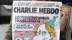 Dos musulmanes atacant als redactores de Charlie hebdo