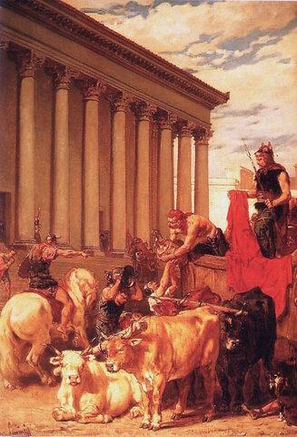 Saqueo de Roma por los godos de Alarico.