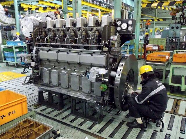 Введение в строй цехов по ремонту судовых двигателей