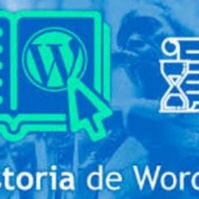 La historia de wordpress timeline