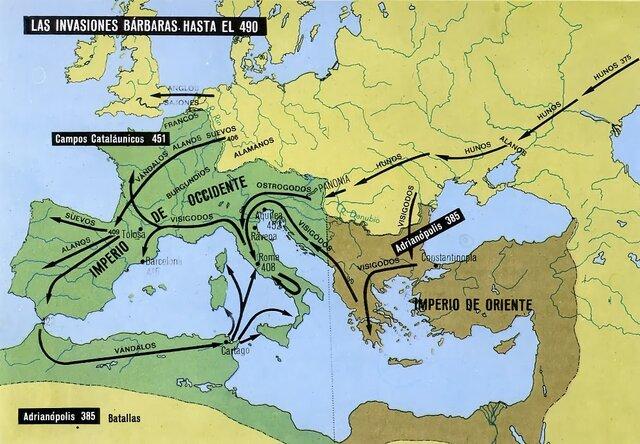 Invasions bàrbares a la Península