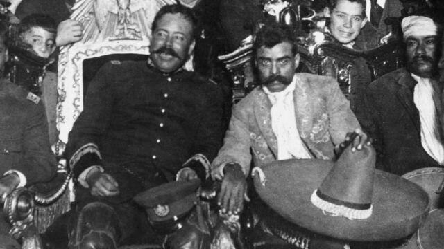 Zapata met Pancho Villa