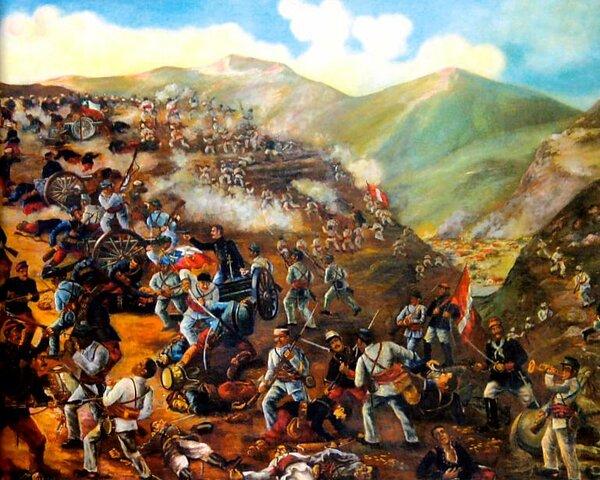 Bolivia y Perú derrotan a Chile en la batalla de Tarapacá