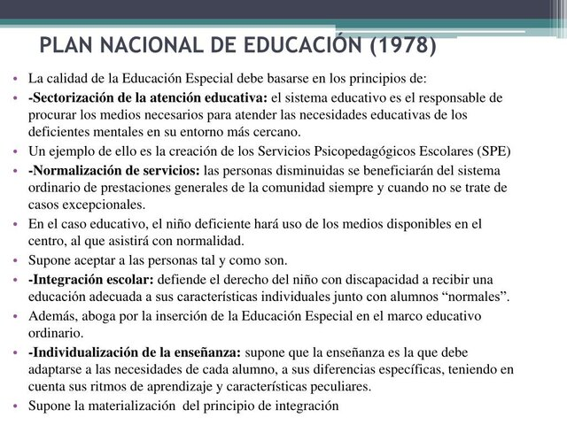 1978 Plan Nacional de Educación